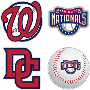 "Washington City National Baseball Die-Cut Sticker - Set of 4 Decal 5"" Longer Side"