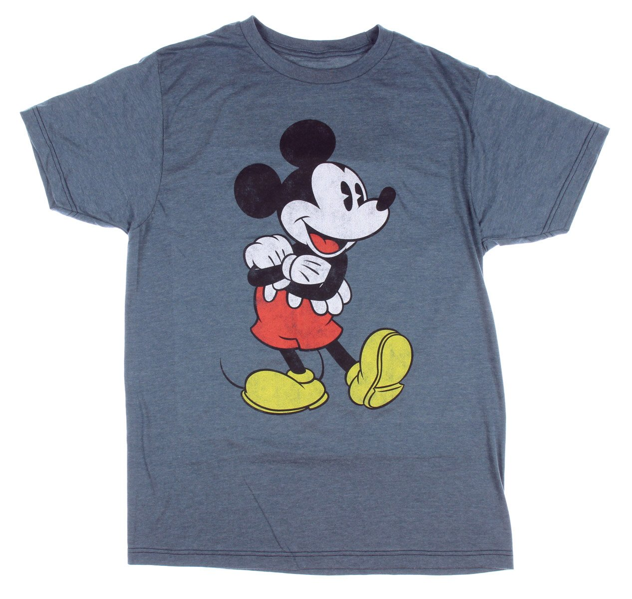 Mickey Mouse Arms Crossed T-shirt (XXL, Heather Navy)