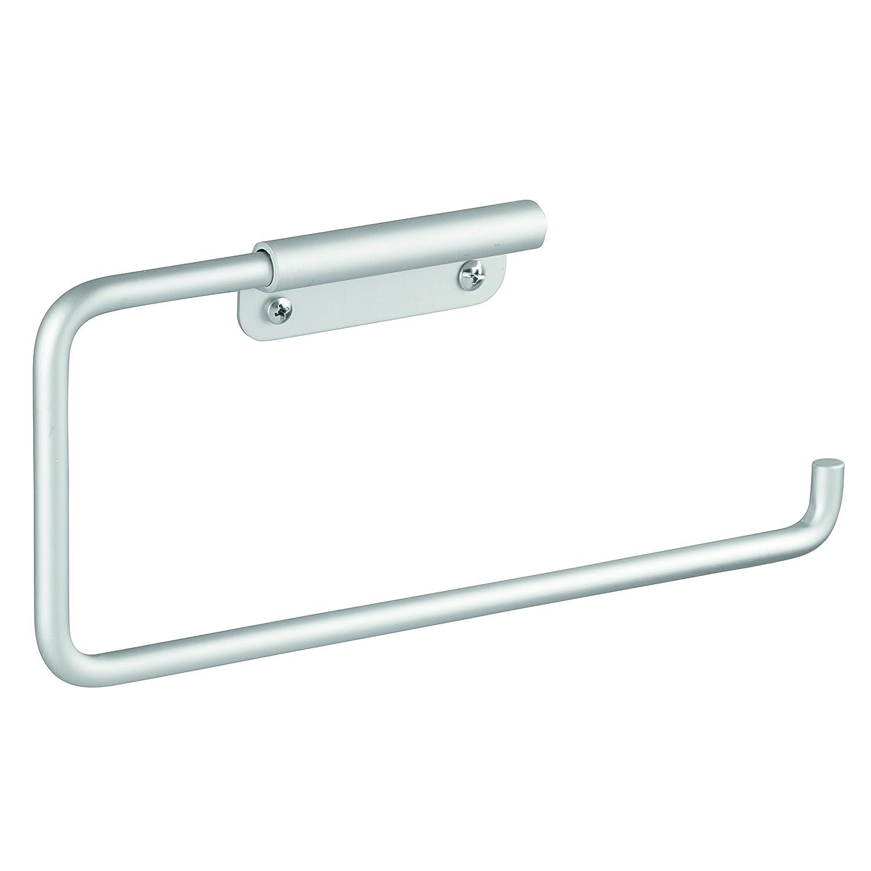 iDesign 22320EU Metro WC-Papierrollenhalter aus rostfreiem Aluminium zum Hängen über den Spülkasten - Silberfarben, Aluminum, Silver, 15,9 x 11 x 21,5 cm