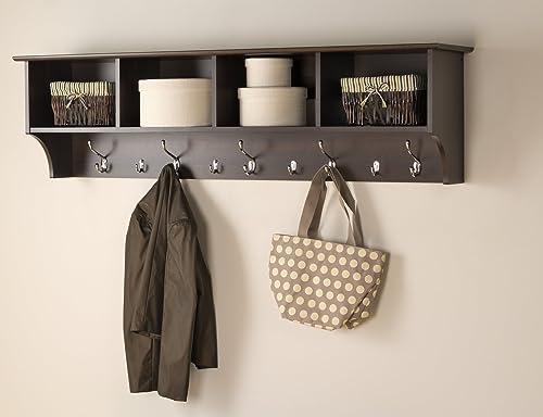 Prepac 60 Hanging Entryway Shelf, Espresso
