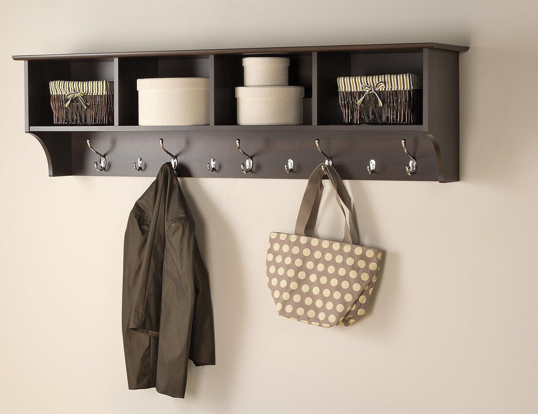 """Amazon.com: prepac 60"""" hanging entryway shelf, espresso: home ..."""