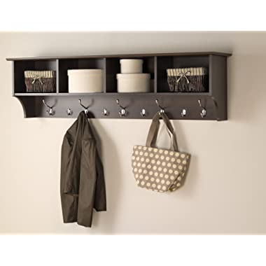 Prepac 60  Hanging Entryway Shelf, Espresso