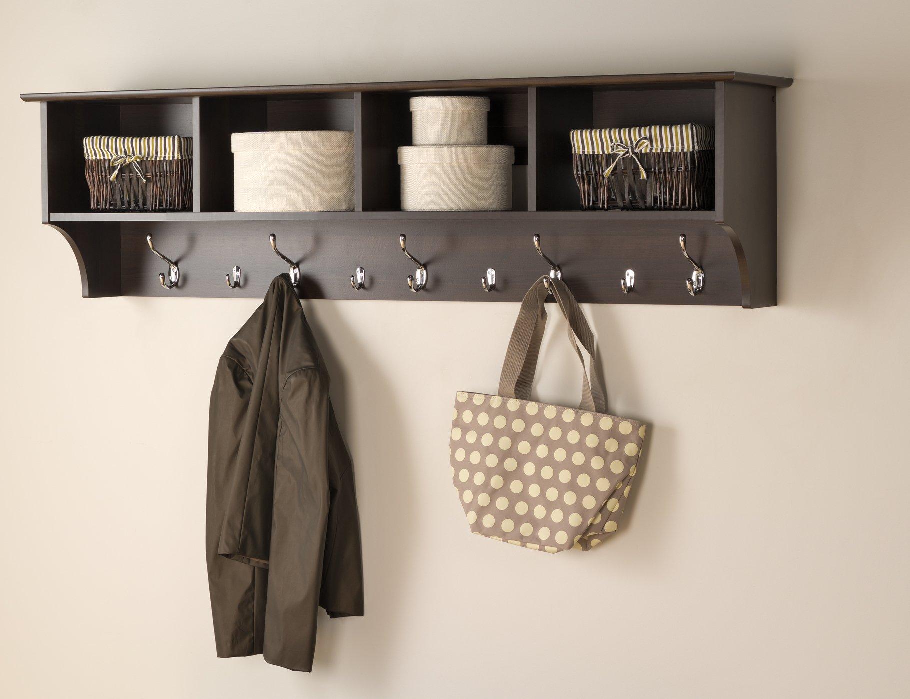 Prepac 60'' Hanging Entryway Shelf, Espresso