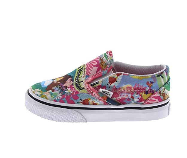 f70c287b16 Vans Disney Tout Petit Rose Alice in Wonderland Slip on Baskets  Amazon.fr   Chaussures et Sacs