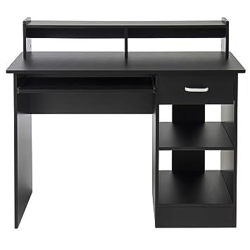 Amazoncom  LTL Computer Black Desk Laptop Table Home Office