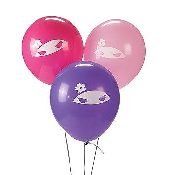 Amazon.com: Ninja Girl Latex Balloons: Health & Personal Care