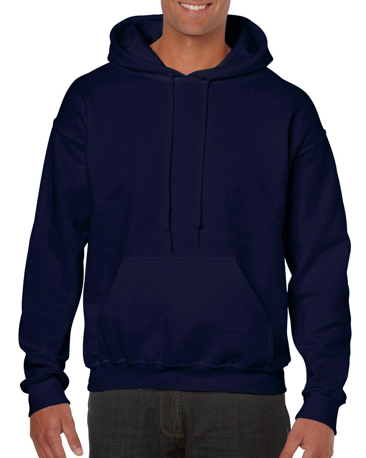 Gildan Men's Big and Tall Heavy Blend Fleece Hooded Sweatshirt G18500, Navy 3X-Large