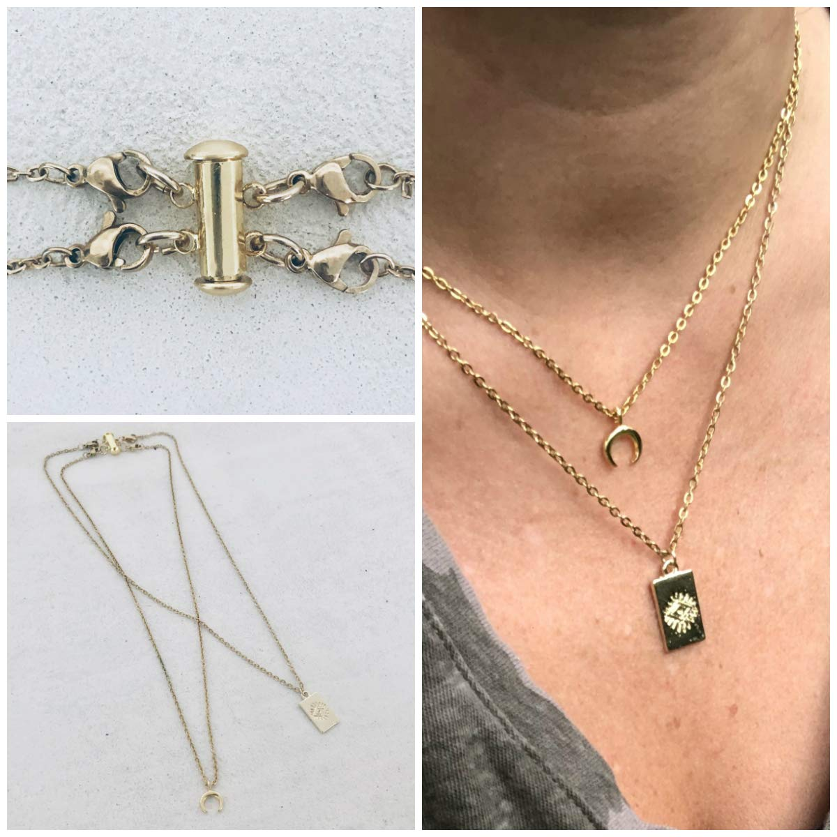 Layering Necklace Spacer Untangle Layered Necklaces Layered Necklace Detangler Multi Strand Necklace Detangler Clasp