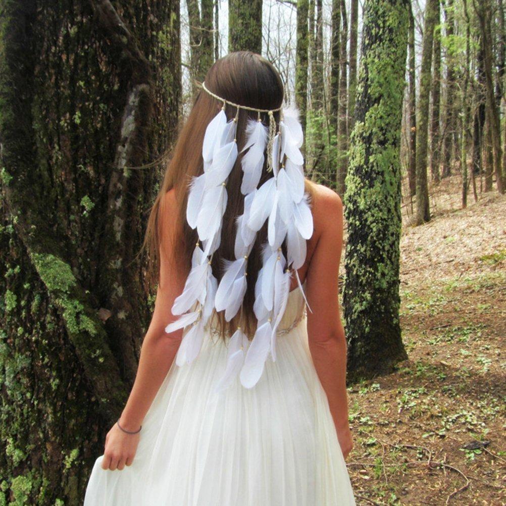 ULTNICE Plumas de ganso blanco natural 150pcs con puntas de oro para fiestas de cumplea/ños artesanales Wedding Party Dress-ups