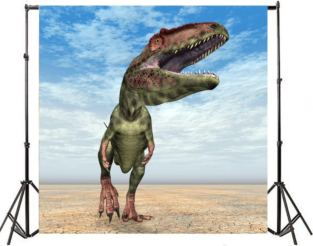 Yeele 3D Dinosaur Backdrop Film Screen Cinema Scene Photography Background 10x10ft Kids Adults Artistic Portrait B Day Party Banner Room Decoration Photo Booth Photoshoot Props Wallpaper