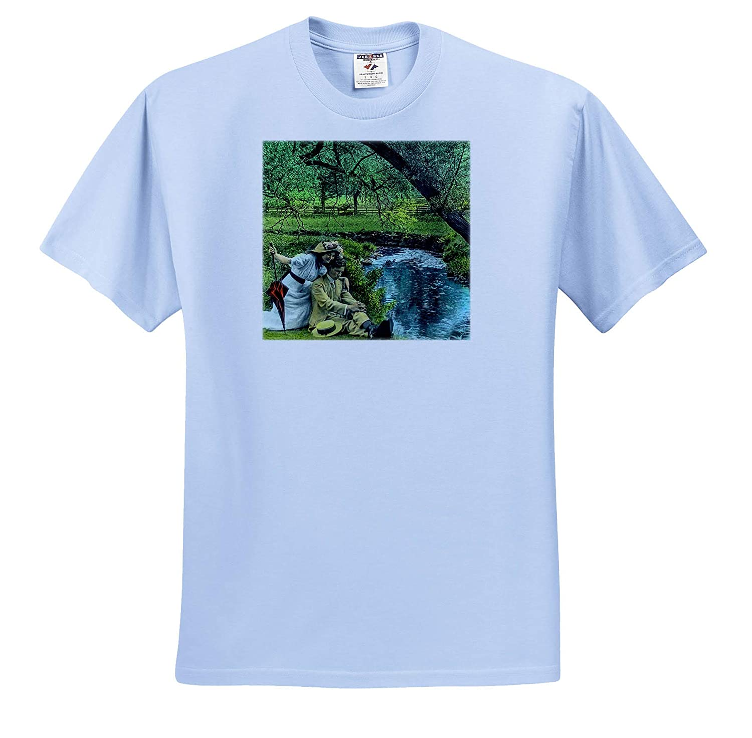 T-Shirts 3dRose Scenes from The Past Scott and Van Altena Sing Along Slide Love Like a Babbling Brook Magic Lantern