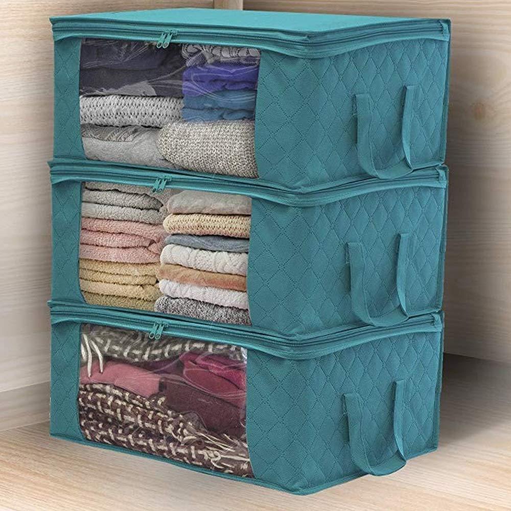 Color : 2 Scatola di Immagazzinaggio Scatola di immagazzinaggio piegante vestiti sporchi che raccoglie cassa in tessuto non tessuto con a prova di umidit/à Zipper Giocattoli Quilt Storage Box