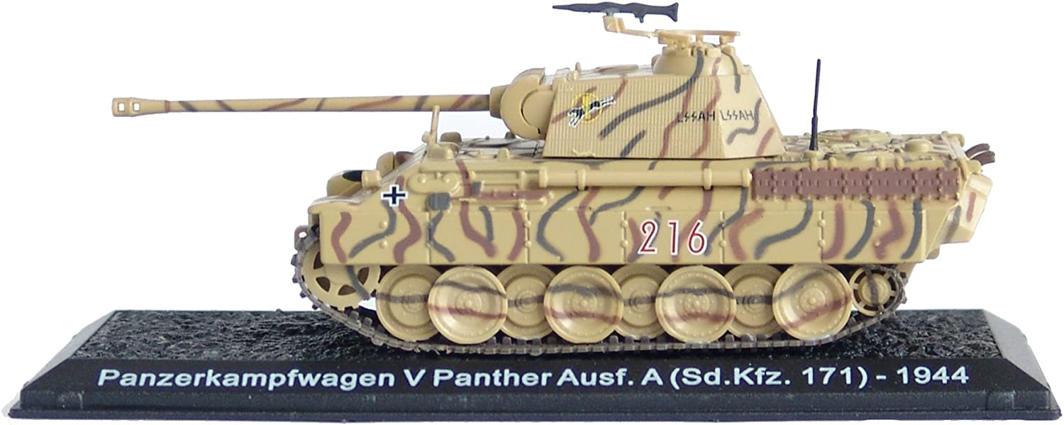 Pz.Kpfw V Panther Ausf A 1:72 WWII tank Chariot Diecast