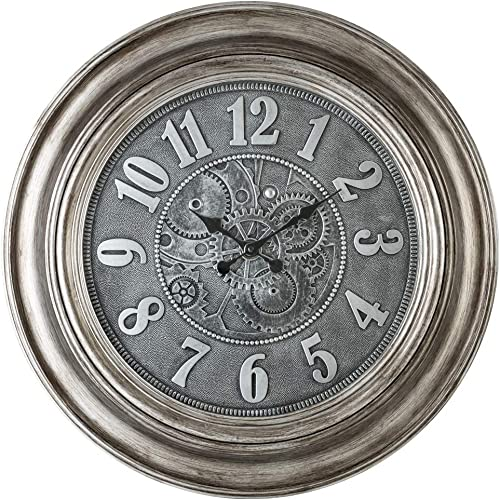 Pacific Bay Aulendorf Giant Decorative Light-Weight 24-inch Wall Clock Silent