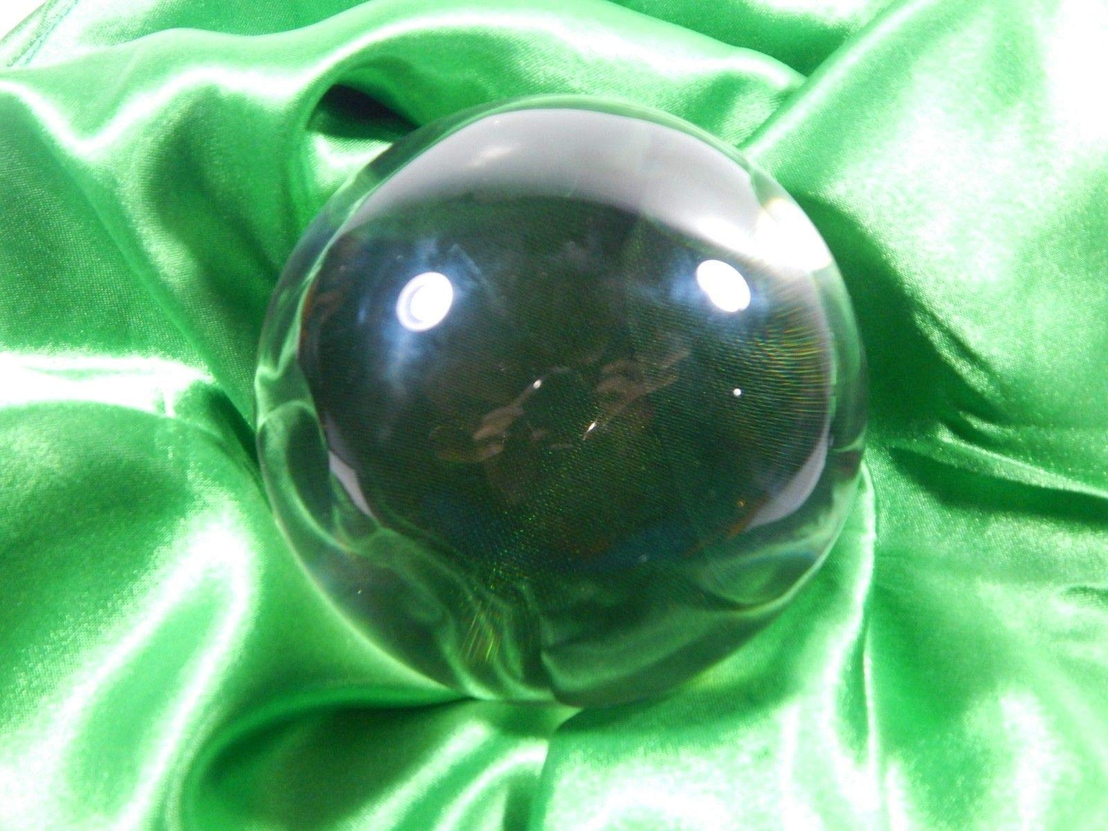 phoenix888 Fused Quartz Crystal Ball Sphere Aura Rectification Gazing Sphere Scrying Pool