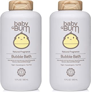 product image for Baby Bum Bubble Bath | Tear Free Foaming Bubble Bath for Sensitive Skin with White Ginger| Natural Fragrance | Gluten Free and Vegan | 12 FL OZ | 2 Pack