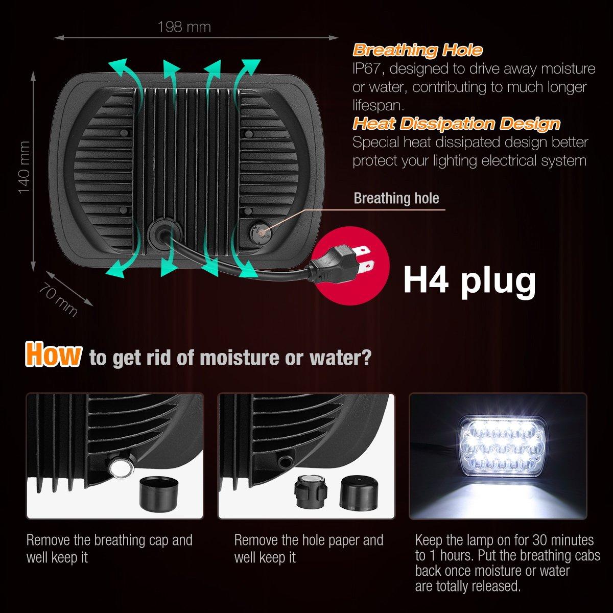 1set 2 Headlight Harness H4 Relay H6054 Wiring Problem Toyota Pickup Headlights