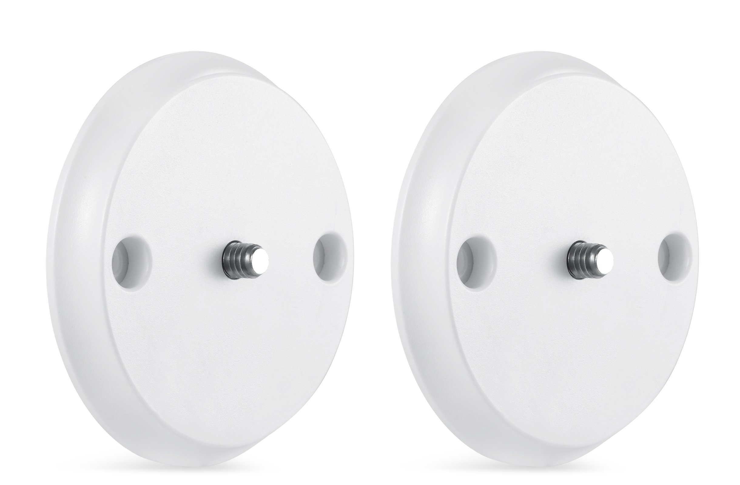 Wall Mount for Nest Cam IQ - Mount Nest IQ with Screws onto Any Wall or Use the Strong Magnet to Mount the Camera onto Any Metallic Surface Without Tools or Wall Damage -by Wasserstein (2 Pack, White) by Wasserstein