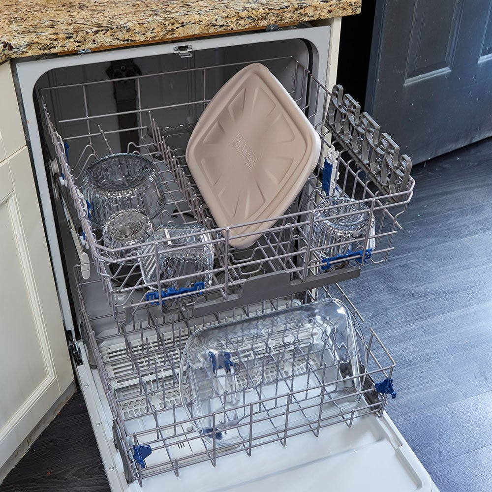 Anchor Hocking Oven Basics 4Piece Bake-N-Take Bakeware Set, Pepper Gray by Anchor Hocking (Image #7)