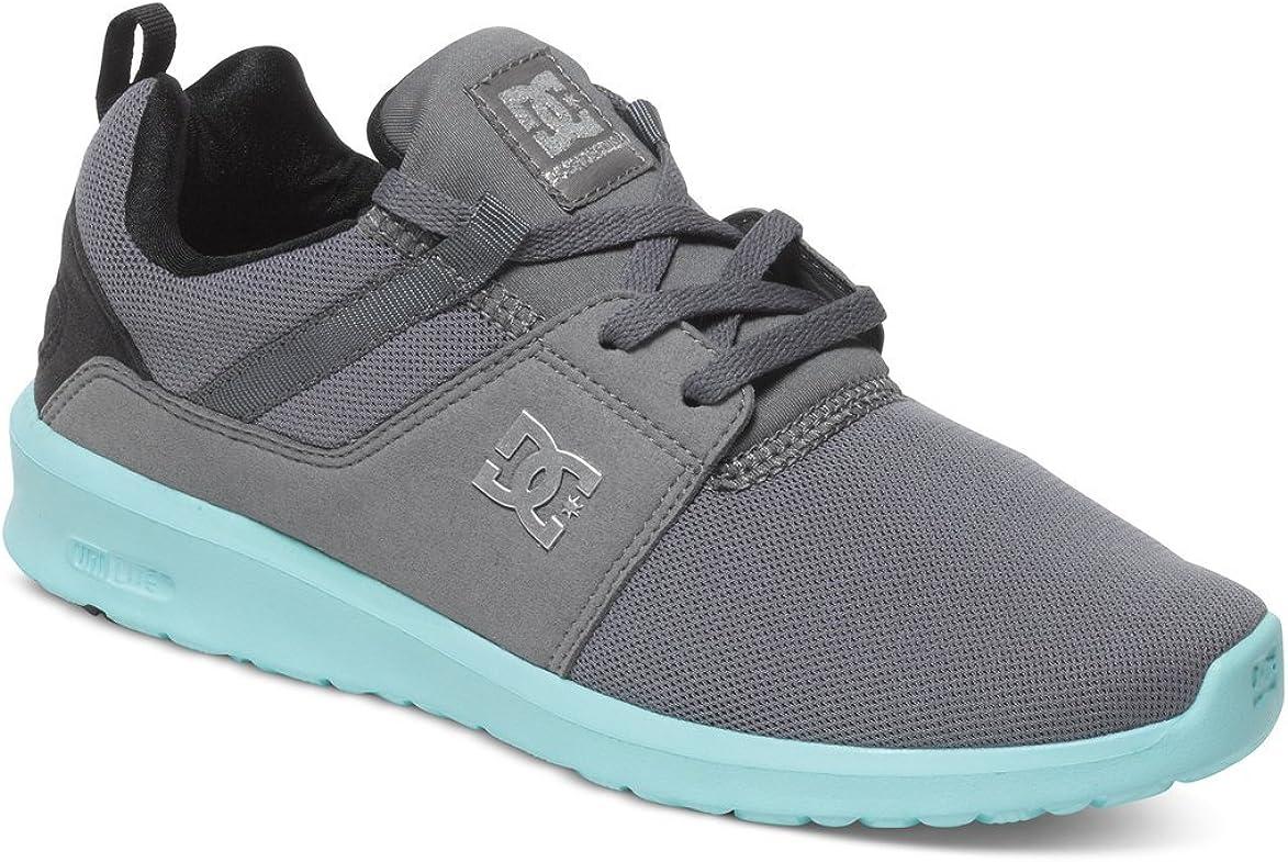 DC Womens Heathrow Grey Black Blue Shoes Size