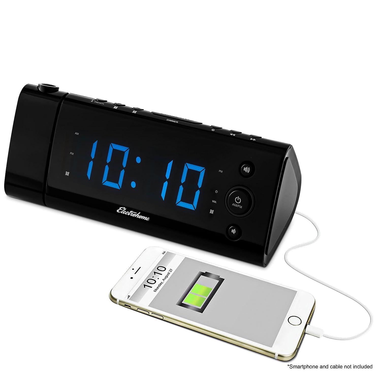 Amazoncom Electrohome USB Charging Alarm Clock Radio