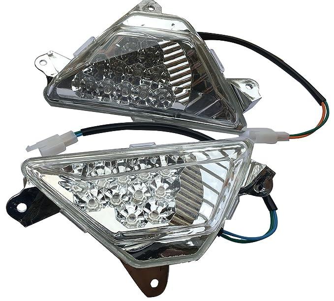 Parte delantera transparente LED Turn Signal Blinker luces ...