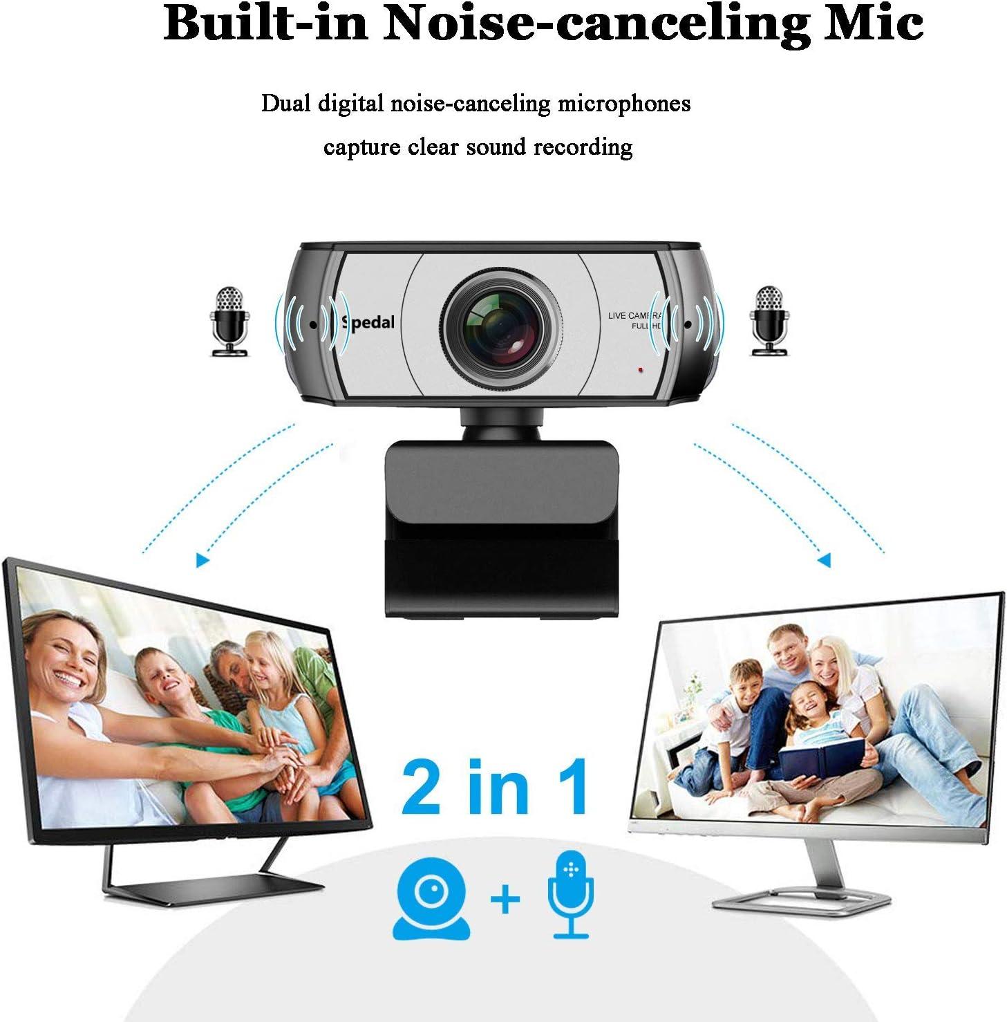 Webcam 120° Gran Angular Full HD 1080P Cámara Web Compatible con Skype,Xbox, Twitch,Youtube, Facebook Webcam de USB Plug and Play: Amazon.es: Electrónica