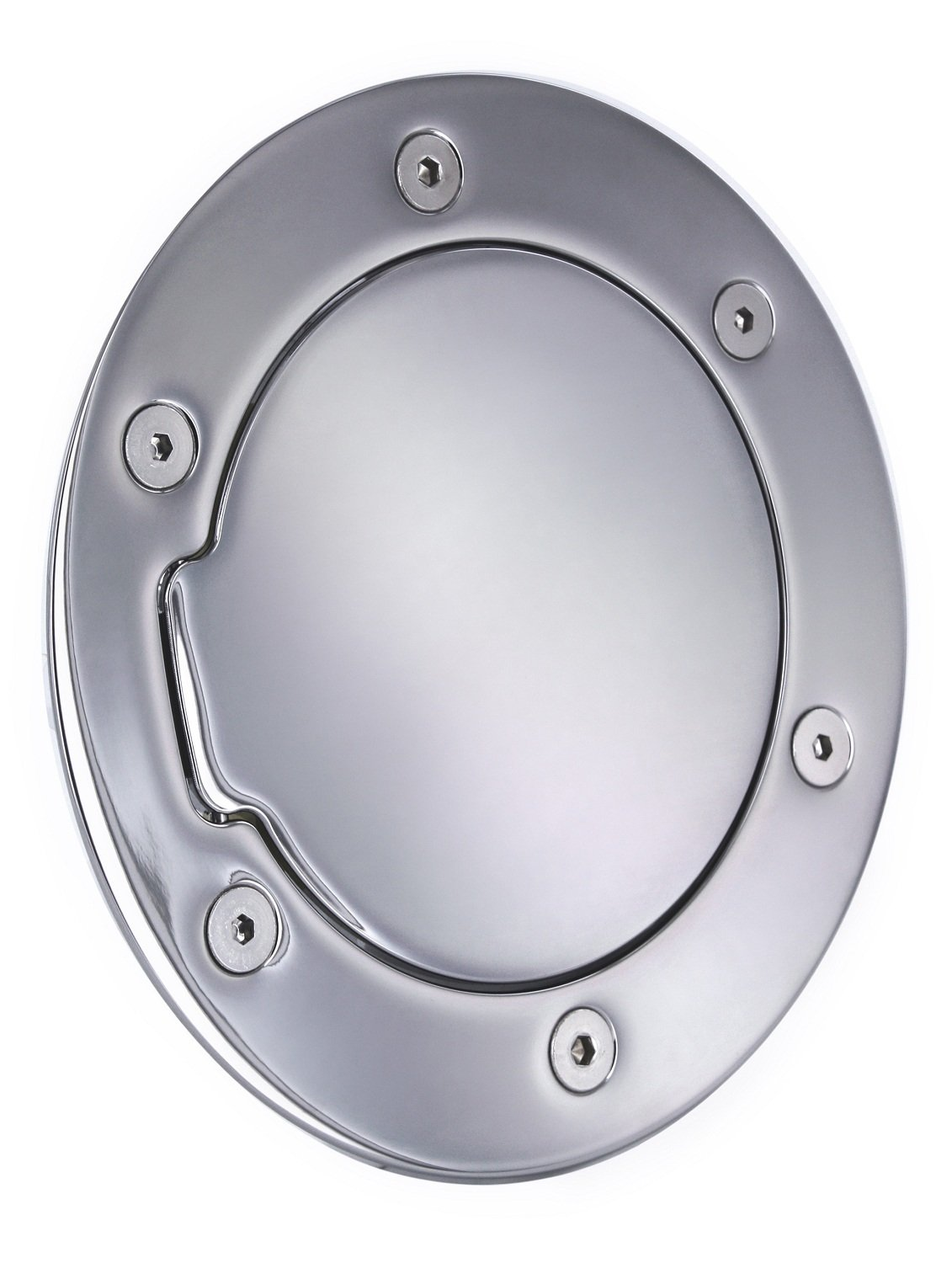 All Sales 6041C Chrome Billet Aluminum Fuel Door