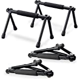 Withgear Folding Push Up Bar - Portable and Lightweight Sturdy Duralumin Metal Push Up Bars and Indoor and Outdoor Parallette