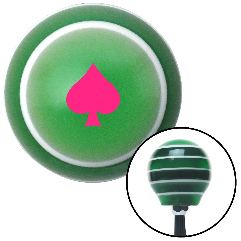 Pink Spades Green Stripe with M16 x 1.5 Insert American Shifter 274860 Shift Knob