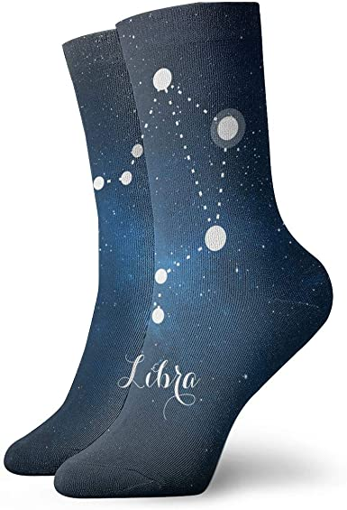 Starry Sky Casual Cotton Crew Socks Cute Funny Sock,great For Sports And Hiking