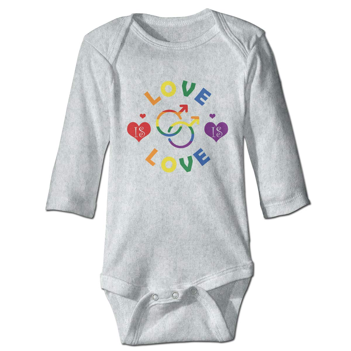 Homosexuality Love Graphic Newborn Baby Long Sleeve Bodysuit Romper Infant Summer Clothing