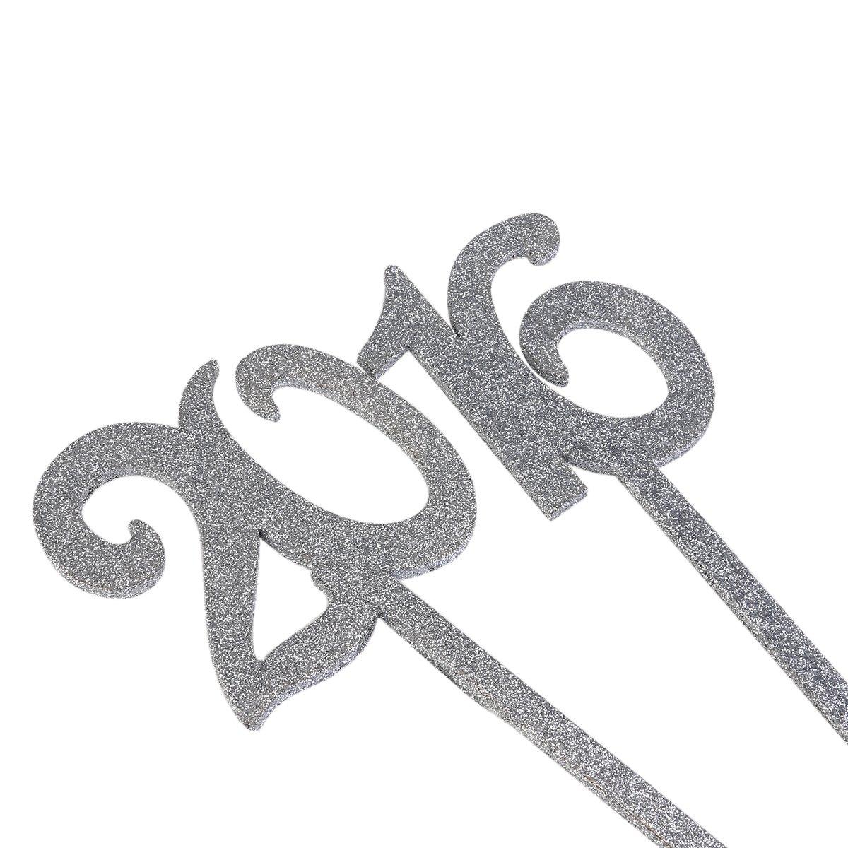 Rosenice Ideali per matrimonio 1/ Segnaposti  con glitter /20 20pz Colore argento