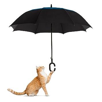 Paraguas grande, doble, ventilado y resistente al viento Confygrip, de Eagle, gran