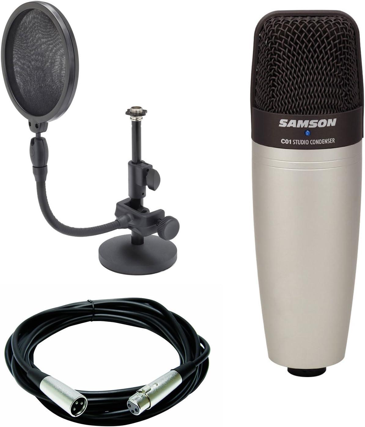 Amazon.com: Samson C01 - Micrófono condensador de diafragma ...