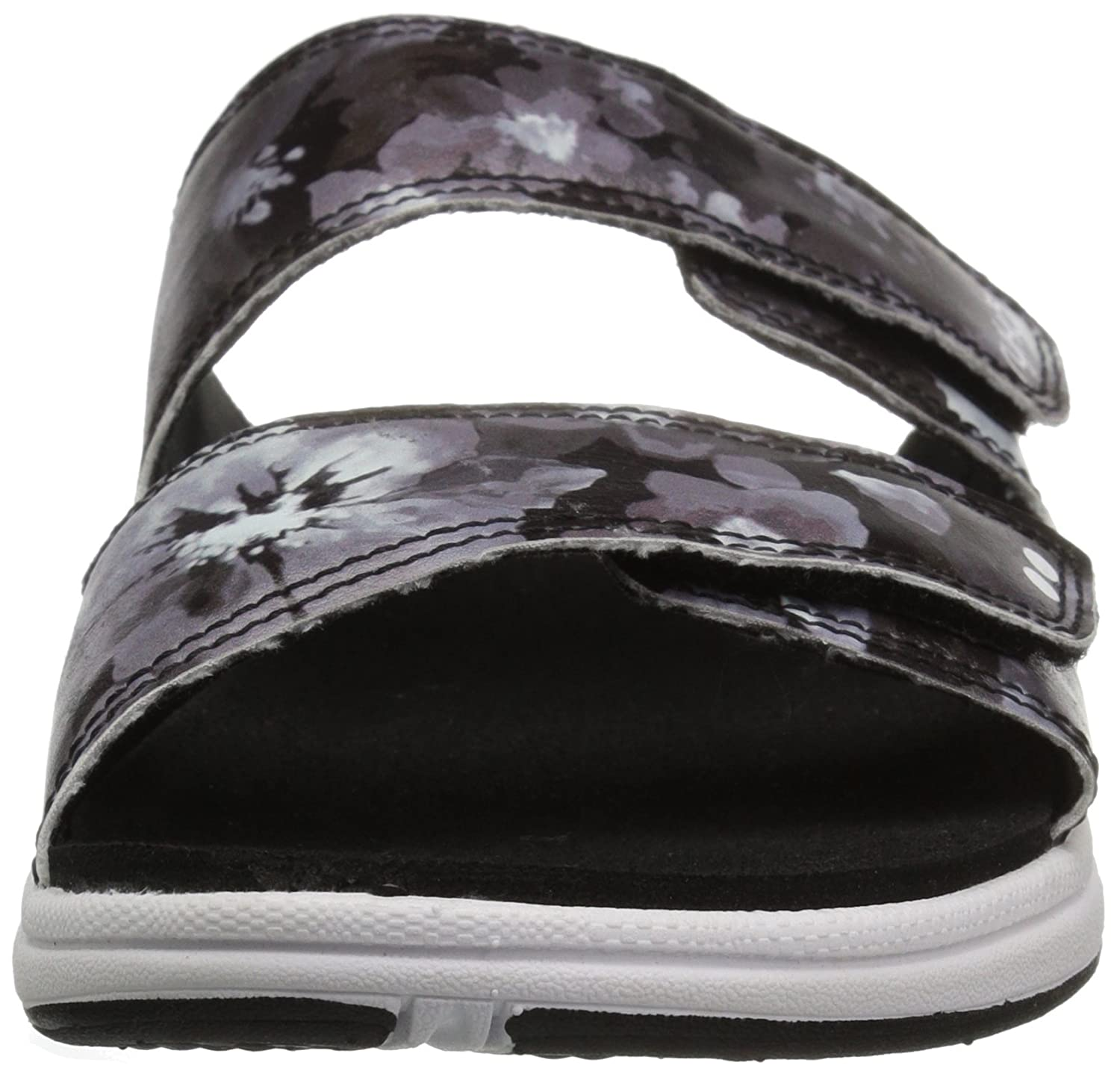 Ryka Women's Marilyn Slide Sandal B079ZD9QQ9 6.5 W US|Black/White