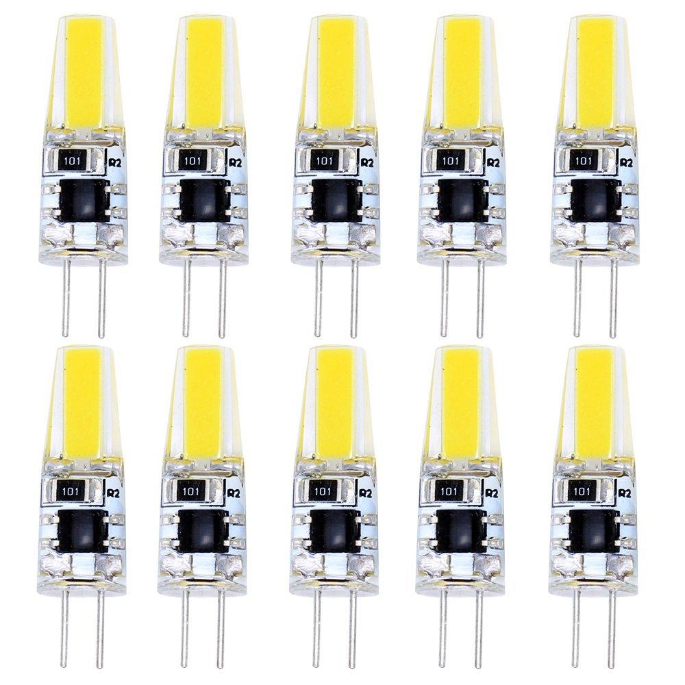 10 Pack G4 COB LED Bulb 2W Faible Consommation Ampoule LED Blanc Froid 180LM Lampe Bulb lampe de salon AC 220V-240V