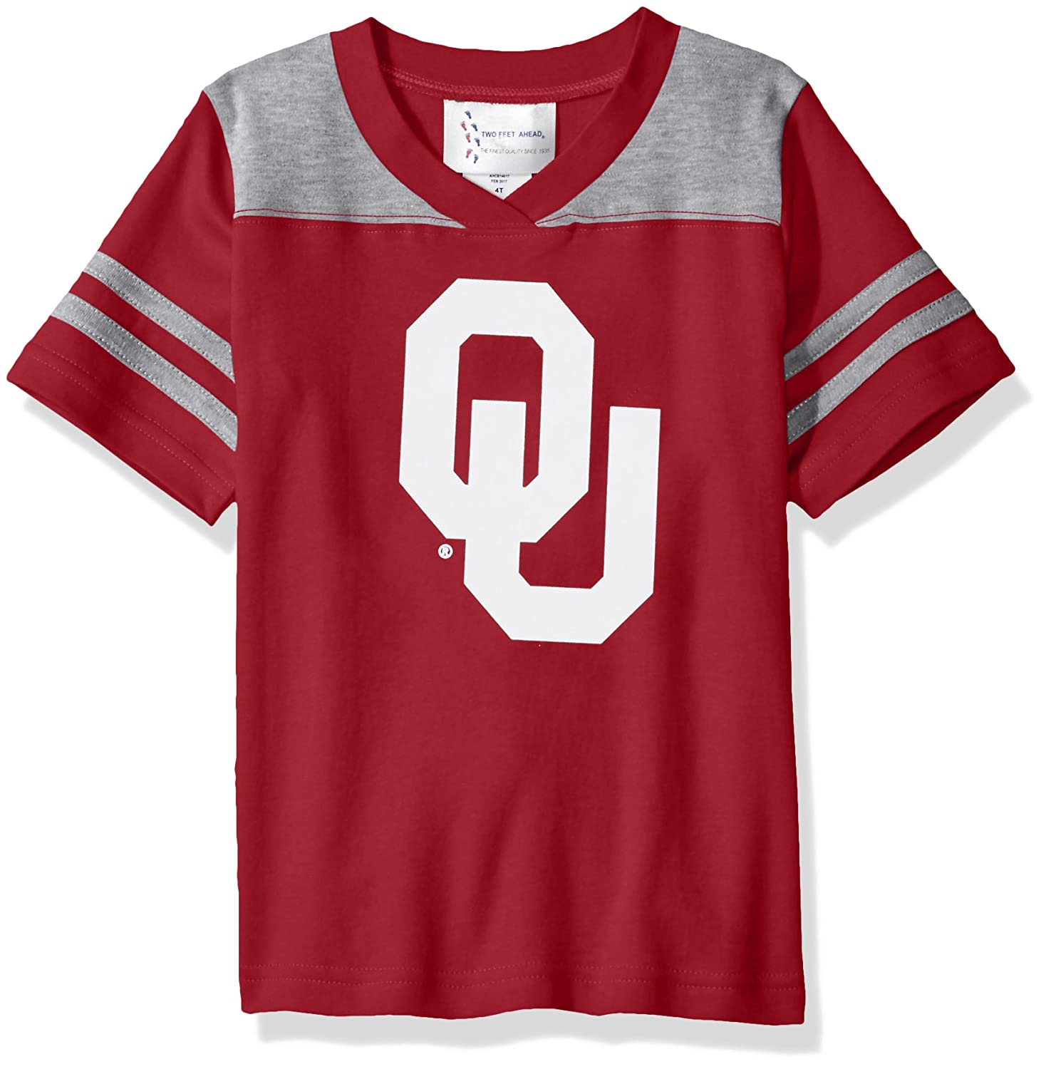 2 Two Feet Ahead NCAA Oklahoma Sooners Toddler Boys Football Shirt Crimson