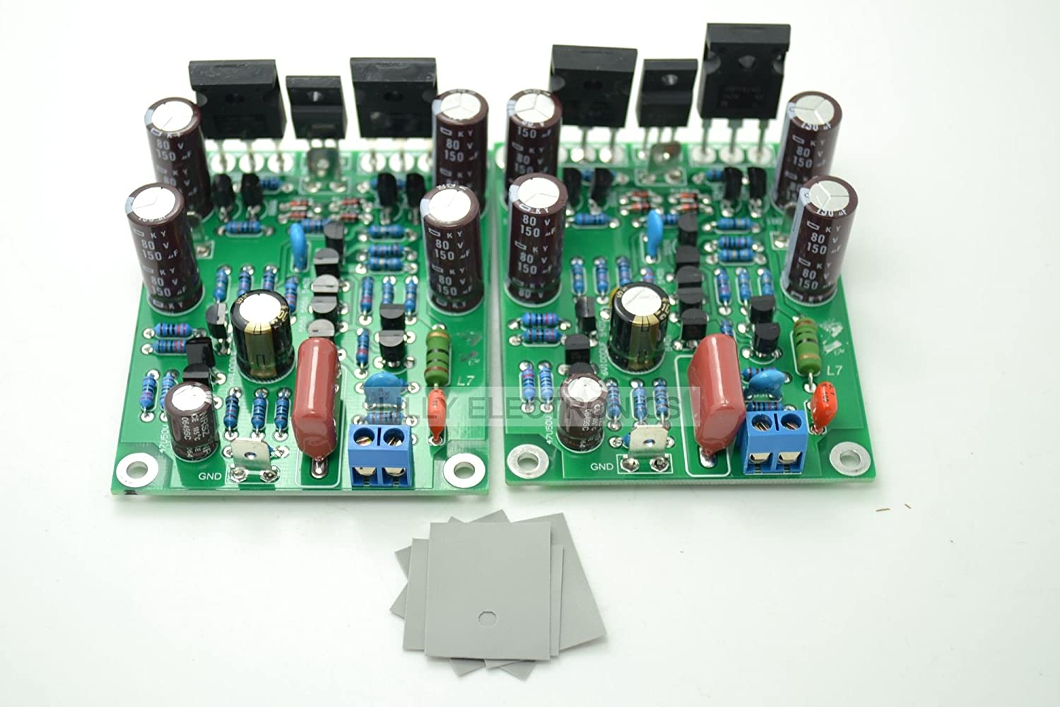 Q Baihe L7 Mosfet Dual Channel Power Audio Amplifier 100w Circuit Board High Speed Field Effect Using German Vishay Irfp240 Irfp9240 Output