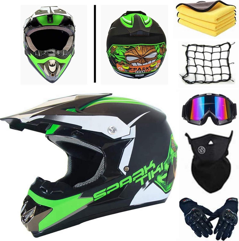 Agvea Motocross Helm Mit Schutzbrille Crosshelm Kinder Unisex Fullface Helm Enduro Helm Crosshelm Mit Brille Downhill Helm Kinder Quad Enduro Atv Motorrad Und Motorrad S Auto