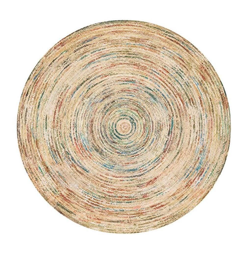 Runde Bunte Bereich dekorative Teppiche für Wohnzimmer/Schlafzimmer | Weicher Esszimmer Teppich Rutschfeste Yoga Matte | Wohnkultur Teppich (größe : Diameter140cm)