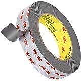 3M 4941 Double Sided Tape, Easy Peel Heavy Duty Mounting Waterproof VHB Foam Tape, 16FT Length,1 Inch Width,1.1mm…