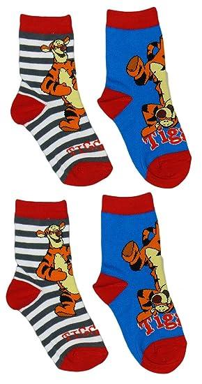 Calcetines de Winnie Pooh con Tiger, pack de 5: Amazon.es: Ropa y accesorios