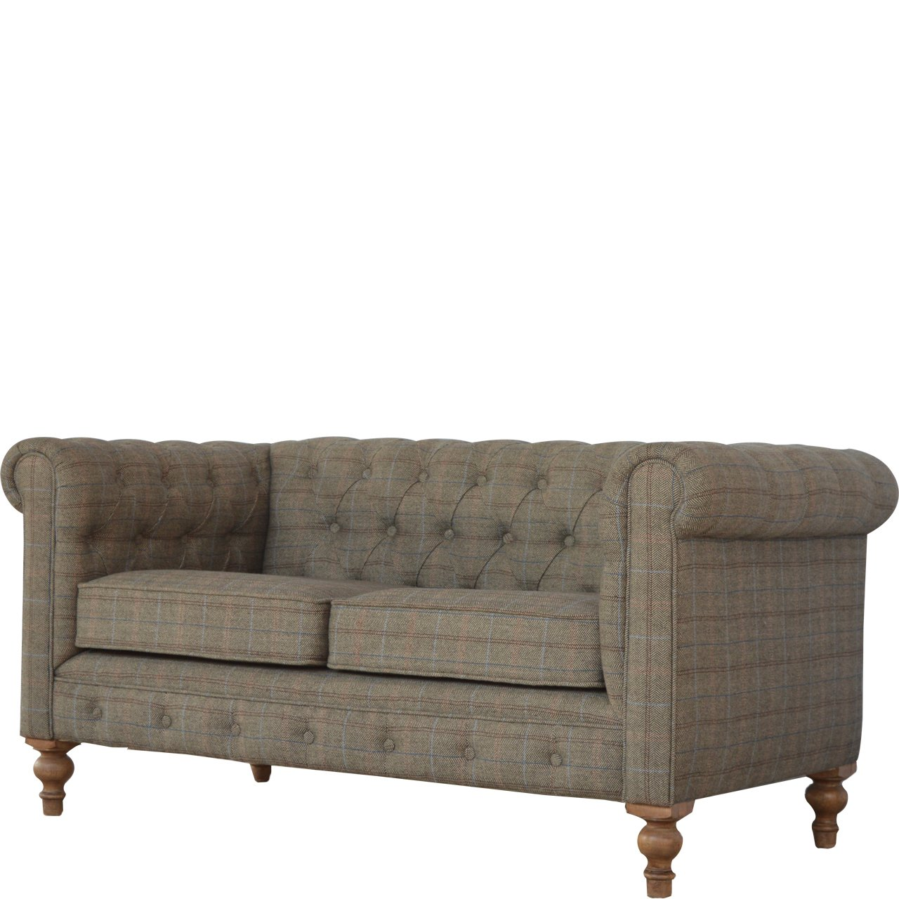 Artisan Chesterfield 2-Sitzer-Sofa, Holz, N Natur