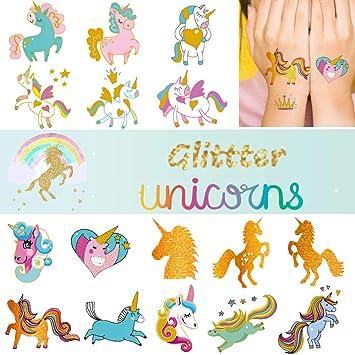 Amazon.com: Ooopsi - Tatuajes de unicornio para niños, 58 ...