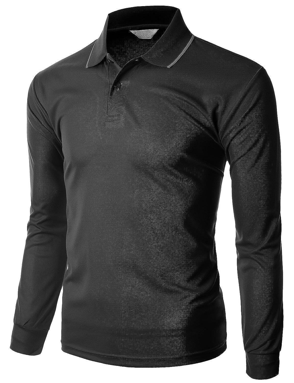 Amazon Xpril Mens Functional Coolmax Collar Long Sleeve T