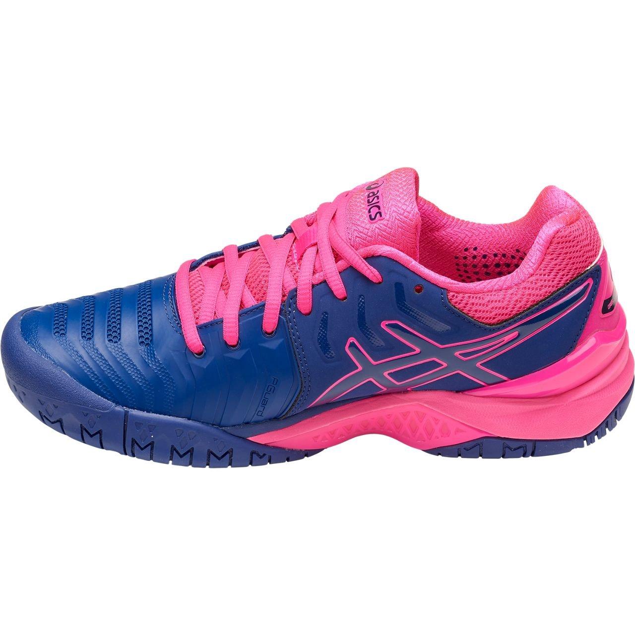 ASICS Womens Gel-Resolution 7 Tennis Shoe, Blue Print/Blue Print, Size 5.5