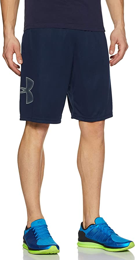 Under Armour Woven Graphic Mens Training Shorts Black Breathable Loose Gym Short