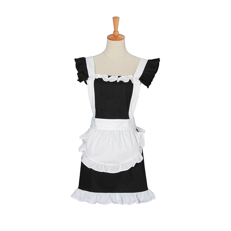 White ruffle apron amazon - Veni Masee Lovely Cotton Handmade Waitress Kitchen Apron Home Shop Cooking Salon Apron Dress Amazon Co Uk Kitchen Home