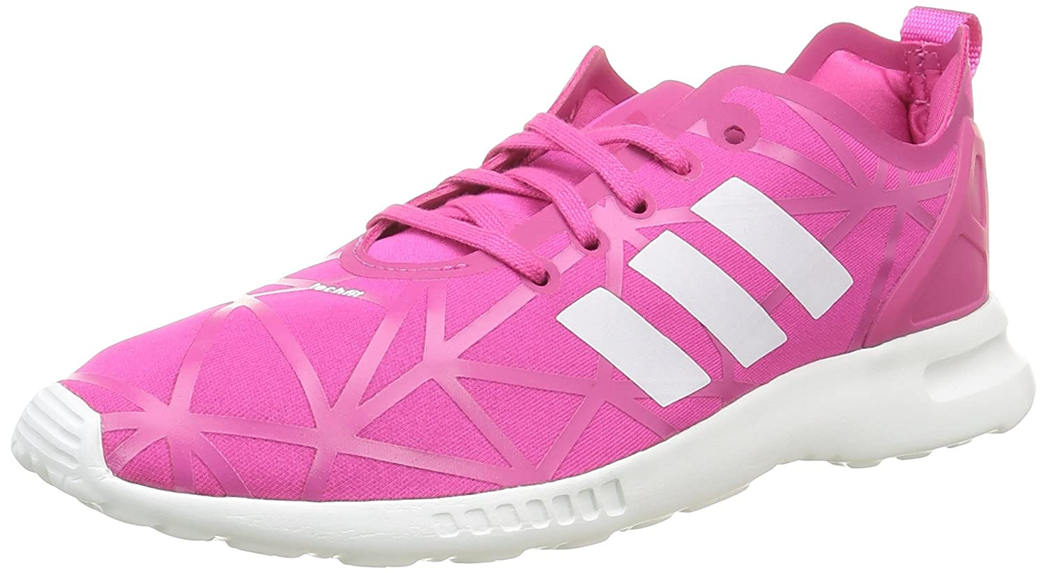 adidas Damen ZX Flux Smooth Sneakers  42 EU|Pink (Eqt Pink/Eqt Pink/Core White)